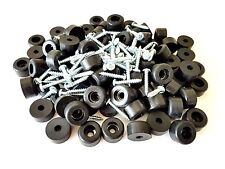 "Lot of 25 Rubber Bumper Feet 1"" Dia * 9/16"" H + Screws & Metal Washer Built-In"