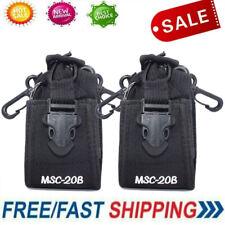2pcs Walkie Talkie Radio Case Pouch Holster Belt for Kenwood Midland Baofeng Ed6