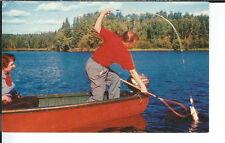 AY-086 - Fishing, Netting Big, 1950's-1960's Advertising Sales Sample Postcard