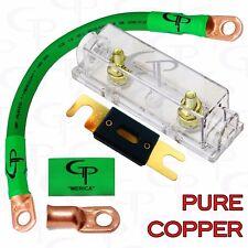 100 AMP ANL Fuse Holder INLINE Block BATTERY INSTALL KIT 1/0 AWG GAUGE COPPER G