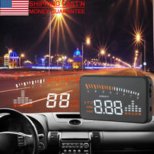 "X5 Car OBDII HUD Head Up Display Projector Speed Warning System Fuel Alarm 3"""