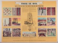 """Rare 1955 """"This Is Oil"""" Shell Oil Co.Advertising Poster #2 Birth of An Oil Field"""