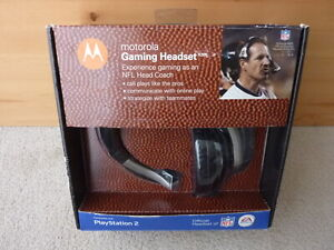 MOTOROLA X205 Gaming headset endorsed by NFL & EA Sports new in box 89077J PS2