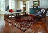 area rug Wlgtn#122 Carpet large Amazing Burgundy soft pile sizes 2x3 5x7 8x11