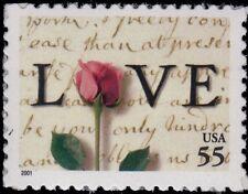 2001 55c Rose & Love Letters Scott 3499 Mint F/VF NH
