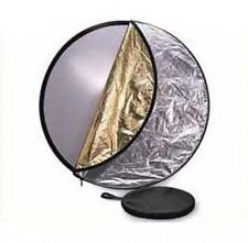Pro 60cm 5 En 1 Plegable Reflector. Plata, Oro, Blanco, Negro Y Difusor.
