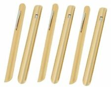 6 Restaurant Catering Table Crumbers W/ Gold Finish -