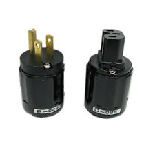 1 Pair New P-029 US Power Plug + C-029 IEC Connector for Audio Cheap