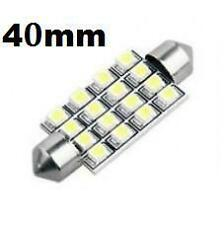2 White 16 SMD LED Car Dome Number Plate Registration Light Bulbs 40mm 12V DE440