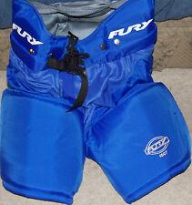 "NEW PAIR OF FURY 1007 ICE HOCKEY PANTS blue SIZE 50 32"" WAIST"