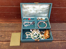 Vintage Jewellery Box Filled with Misc Jewelry Pieces