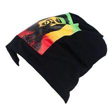 Mens Ladies Ski Warm Winter Slouch Beanie Rasta Bob Marley Hat Cap New