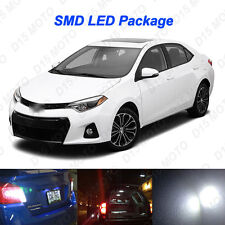 8x Xenon White Reverse + Tag + Interior LED Lights for 2000-2017 Toyota Corolla