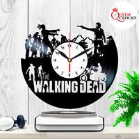 The Walking Dead Daryl Dixon Vinyl Record Wall Clock Art Decor Birthday Gifts