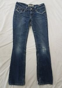 MEK By Miss Me Womens Distressed Dublin Bootcut Jeans Size 26x32