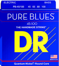 DR Strings PB-45/100 PURE BLUES Bass Guitar Strings - Medium Light