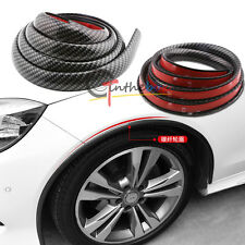2pcs Universal 60'' PU Carbon Fiber Car Fender Wheel Eyebrow Protector Lips