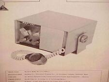 1961 1962 RAYTHEON CB RADIO SERVICE SHOP MANUAL MODEL RAY-TEL (TWR-1)