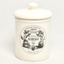 "VINTAGE MAISON FONDEE EN 1854, MARIAGE FRERES CERAMIC TEA CANISTER w/LID, 8"""