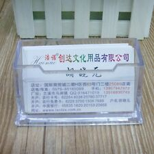 New Home Office Card Holder Transparent Plastic Business Name Card Box Case