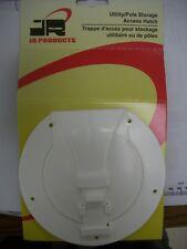 JR Products S-25-10-A Utility Pole White Storage Access Hatch - 2pks