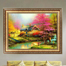 DIY 5D Diamond Embroidery Painting Garden Autumn Cross Stitch Crafts Home Decor