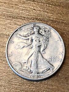 1937D Walking Liberty Half Dollar VF+