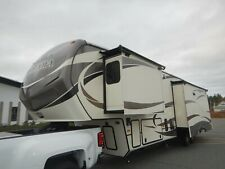 New listing Keystone Montana 38ft 5th Wheel 3 Slides 4 Season Rear Living Fireplace Clean 15