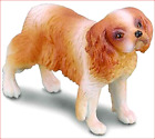 DOG KING CHARLES CAVALIER SPANIEL FIGURINE BROWN AND WHITE PET COLLECTA NEW TOY