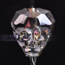 New 14x13mm Skull Head Faceted Crystal Glass Charms Loose Spacer Beads