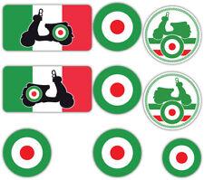Scooter Laminated Sticker set Helmet Italian Italy MOD Retro Vespa