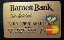 Barnett Bank Gold Bank MasterCard credit card exp 1998♡Free Shipping♡cc640♡