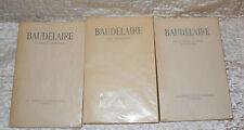 Lot 3 livres Baudelaire, Petits poèmes en prose, art romantique éditions Cailler