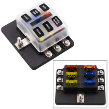 6-Way Blade Fuse Box Block Holder LED Indicator 12V 24V Car Marine Waterproof
