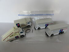 UNITED AIRLINE TOY VEHICLE LOT OF 4 DOUBLE DECKER BUS STAIRWAY TRUCK CHINA BASE