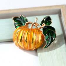 Costume Badge Women Jewelry Gifts Halloween Pumpkin Crystal Brooch Pin Scarf