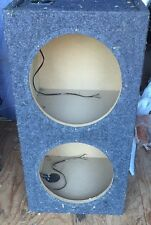 """New listing Dual 12"""" Sealed speaker box (Local Pickup Only)"""