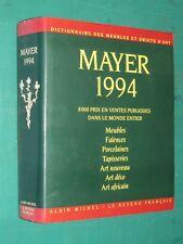 Dictionnaire des meubles et objets d'art MAYER 1994