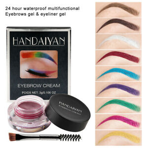 12 Colors High Quality Dipbrow Eyebrow Pomade Eye Brow Makeup Brush Waterproof