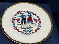 Vintage Collector's Plate Of Amish Home Greeting by Norcreast JAPAN