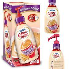Sweetened Original Liquid Coffee Creamer Pump Bottle 50.7 Oz Bottle 300 Servings