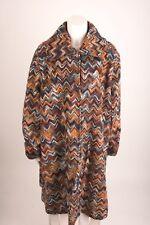 UBU Women's Winter Coat Jacket 3X Plus Size Aztec Orange Zig Zag Chevron NWT