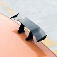 1x Carbon Fiber Black Car Mini Tail Spoiler Wing Decor Sticker Car Accessories