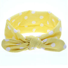 Baby Girl Rabbit Ears Hairband Bow Knot Headband Elastic Turban Headwrap 2016 Yellow