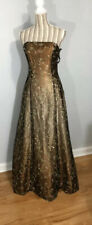 Morgan & Co. Gold/brown Prom/cocktail Gown 5/6