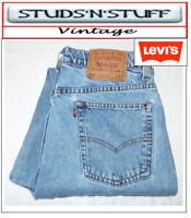 """VINTAGE LEVIS 521'S TAPERED TAPERED JEANS W 34"""" L 34"""" APROX SIZE UK 14 (T503)"""