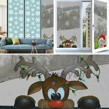 4pcs Christmas Window Stickers Decoration Wall Clings Decal Santa Claus Snowman