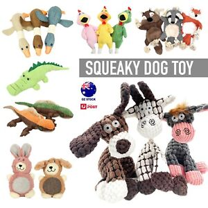 Squeaky Dog Toys Puppy Pet Chew Rope Squeaker Crinkle Rope Plush Toy Teething