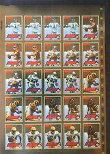 Collector's Edge 1994 Edge Red F/X Uncut Sheet Joe Montana Elway Emmitt Smith