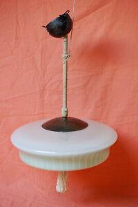Schöne Hängelampe 30er- / 40er-Jahre Art Deco Lampe Leuchte